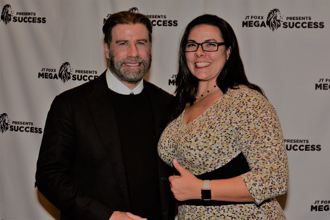 John Travolta & Coach Audra