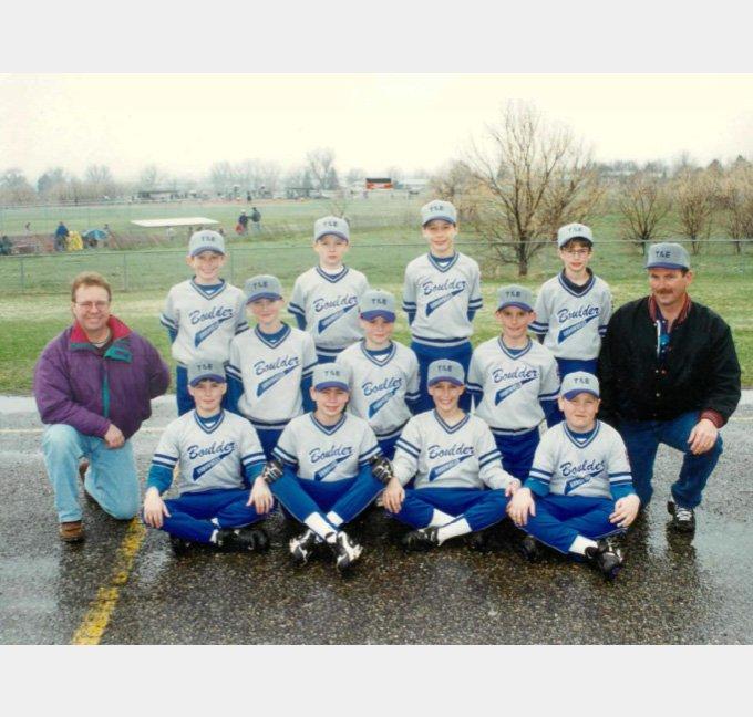 Baseball team posing