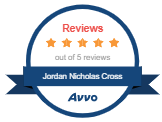 Jordan Adams 5 Star Review Avvo Badge