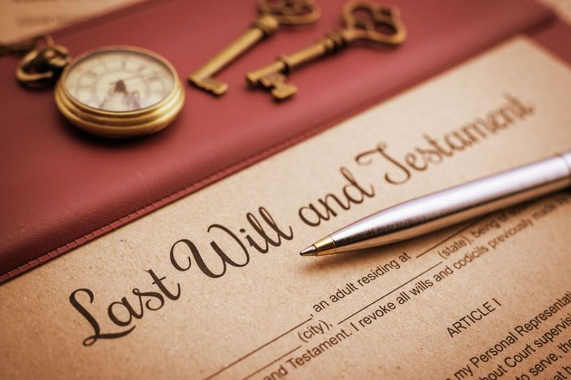 Document with Last will and testament written on it