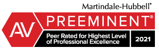 Martindale-Hubbell Preeminent 2021 badge