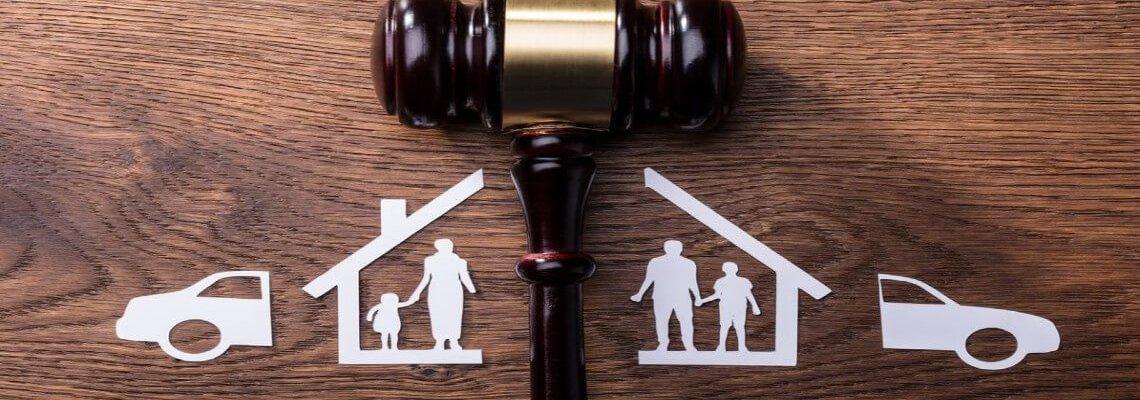 Paper Family Split up by Gavel