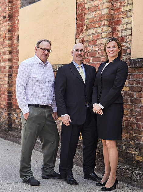 Group Photo of Attorney Thomas J. Beedem and John Vandierendonck and Alesia R. Strand