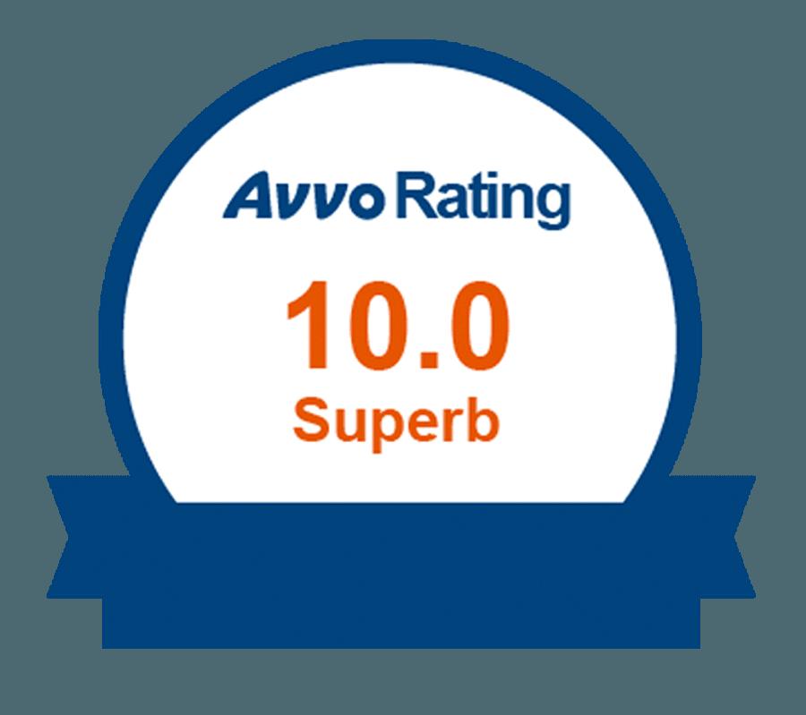 Avvo 10.0 Rating Badge