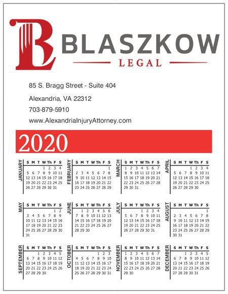 Blaszkow Legal 2020 Calendar