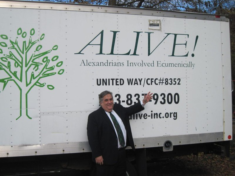 Attorney Blaszkow in Front of an ALIVE truck