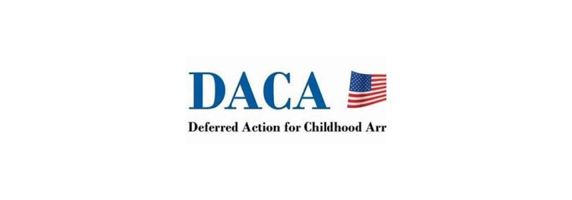 DACA graphic with an American Flag