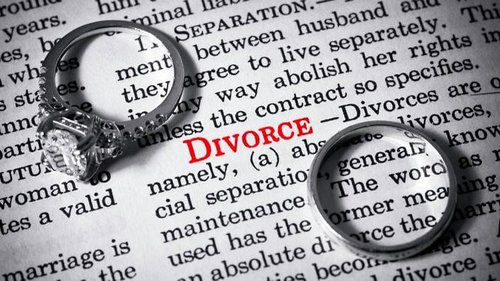 wedding rings on the definition of divorce