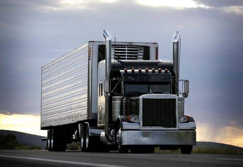 semitruck driving down the highway