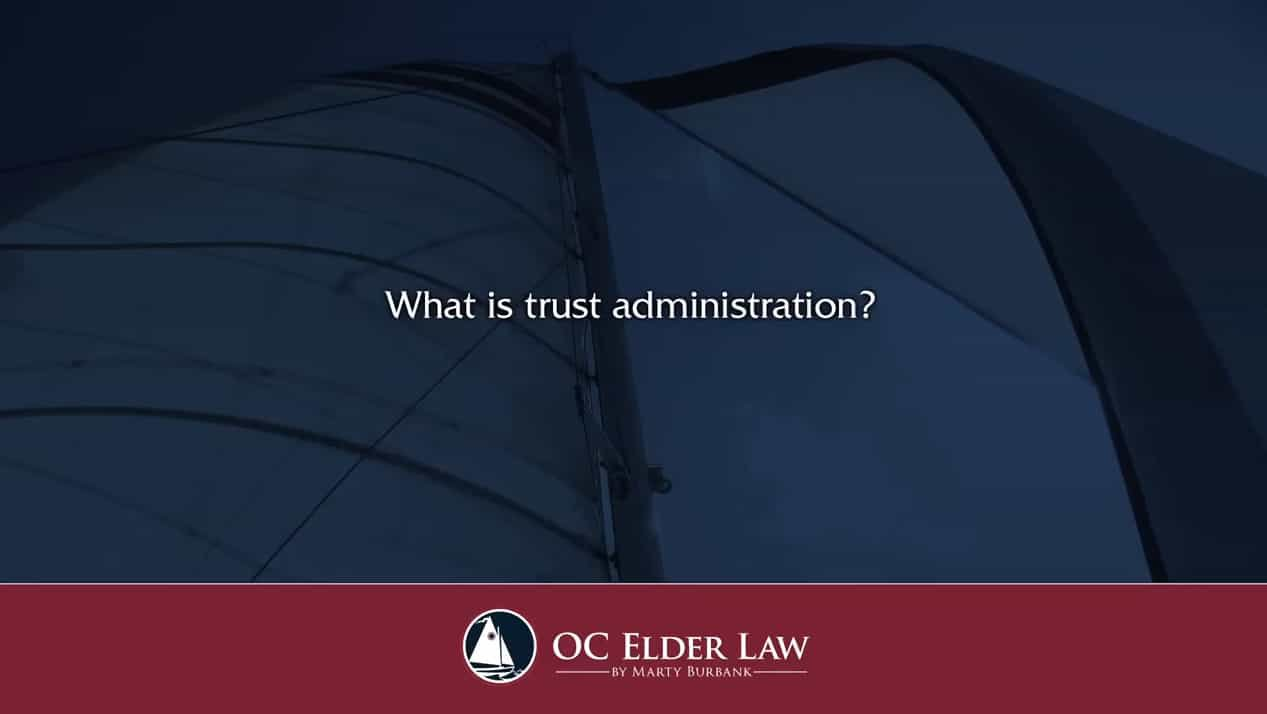 What Is Trust Administration Blue and Red Background