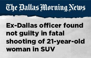 The Dallas Morning News Headline About Fatal Stabbing
