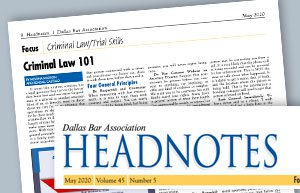 Dallas Bar Association Paper