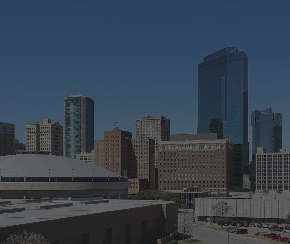 Fort Worth City Skyline
