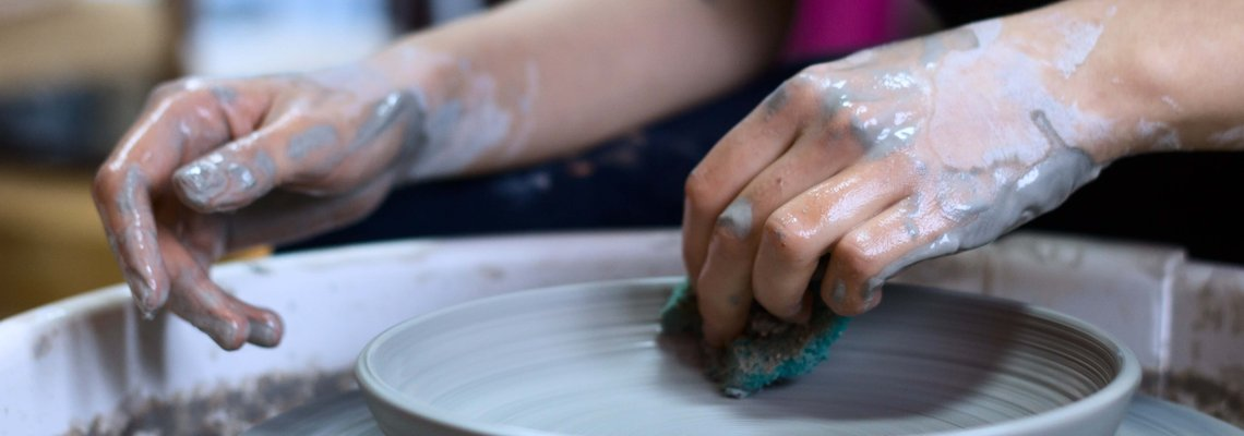 Making a Clay Pottery DIsh