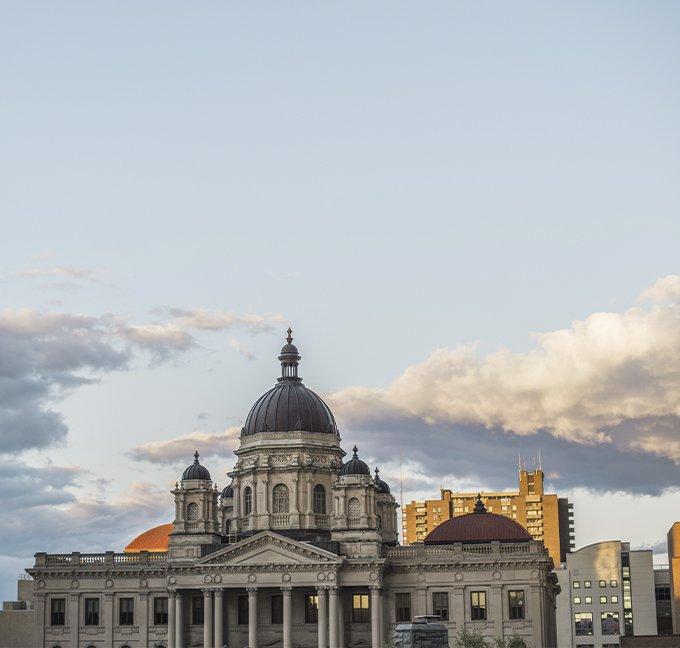 Syracuse courthouse with blue sky