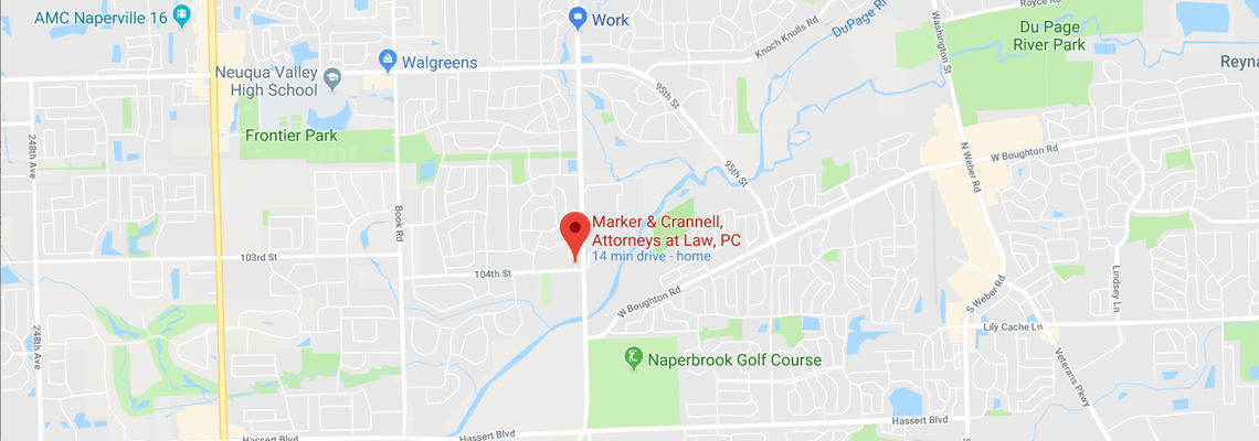Map Of Naperville Law Firm