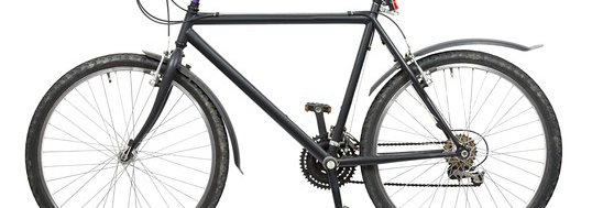 Bicycle on white background