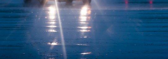 Driving in the rain in Ohio