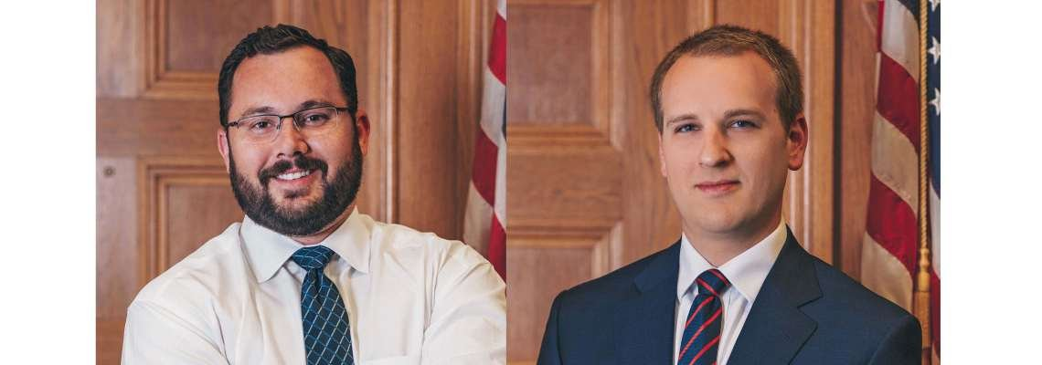 Attorneys Dustin Crook and Caleb Biesterveld