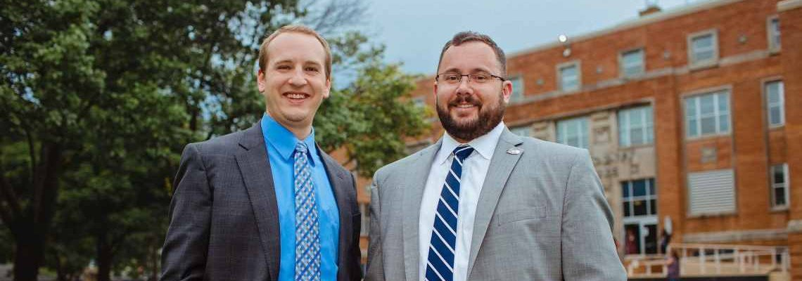 Attorneys Caleb Biesterveld and Dustin Crook