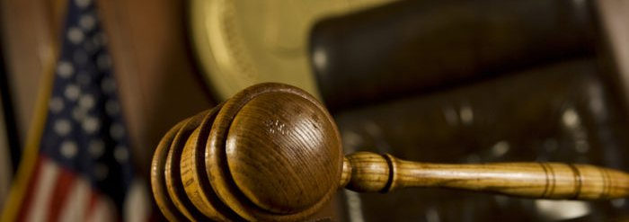 Gavel in a courtroom
