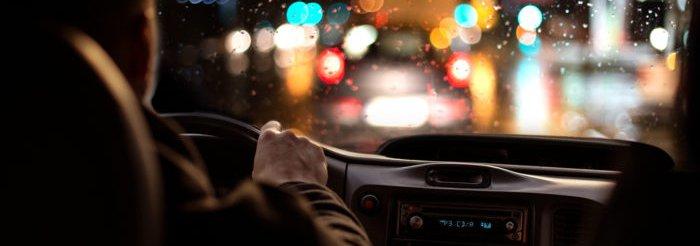 Driving in rain at night