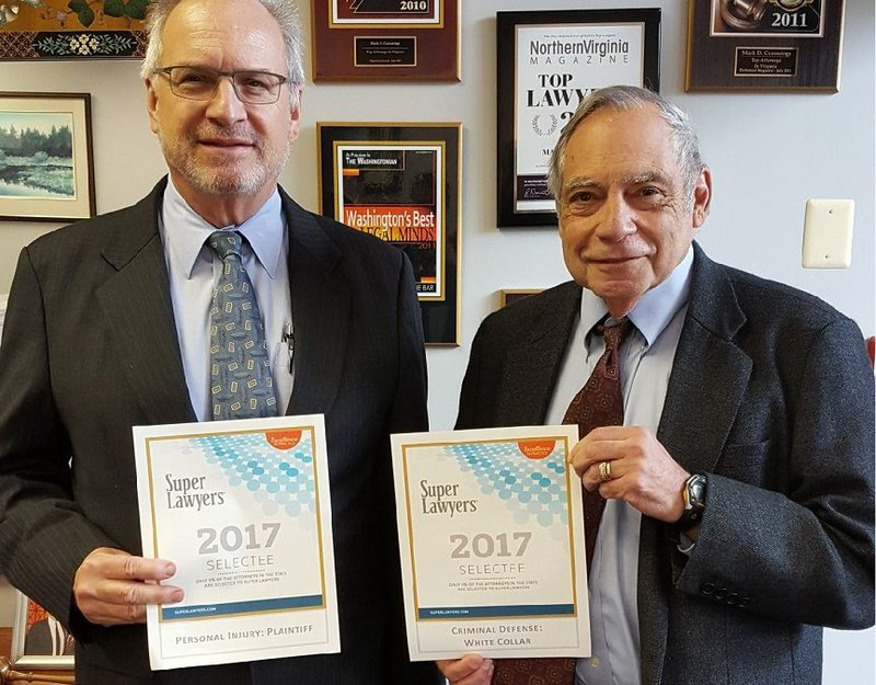 Mark and David with Super Lawyers Award