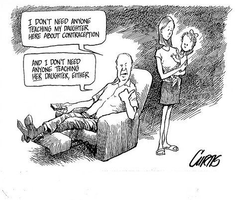 contraception cartoon