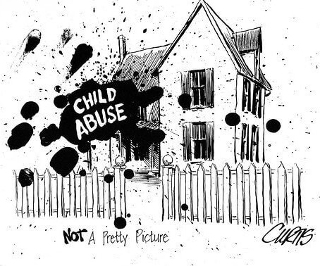 child abuse cartoon