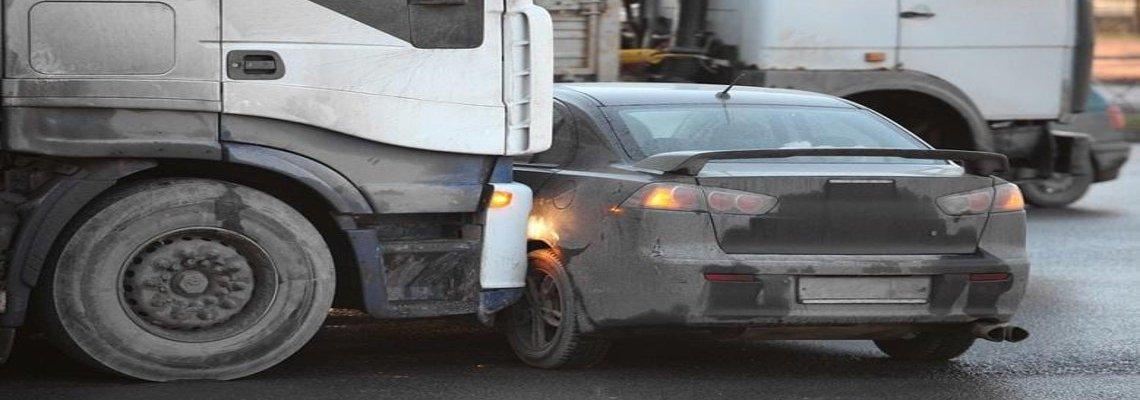 Semi-Truck hitting a sedan