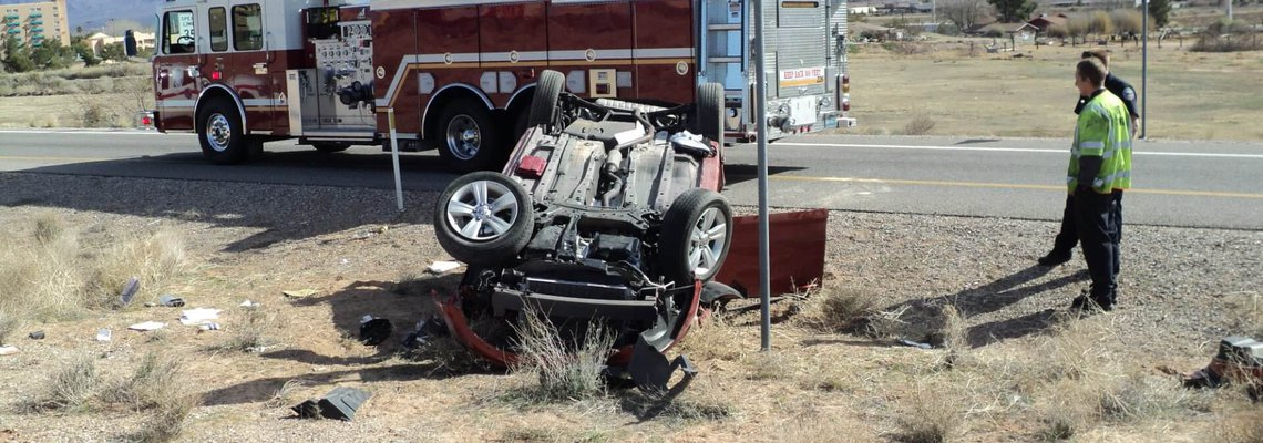 Nevada roll over accident