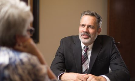 Attorney James R Nance Talking to a Client