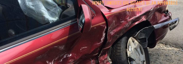 Damages on the Right Side of the Red Car