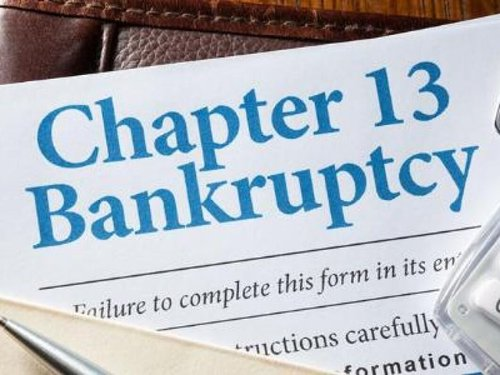 piece of paper with Chapter 13 bankruptcy on it