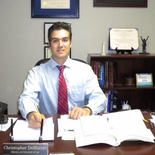 Attorney Christopher Dematteo Sitting in his Office