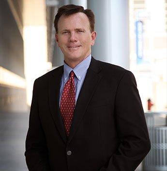 Attorney Brad Pearson in a Black Suit
