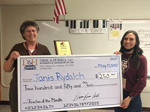April teacher of the month recipient