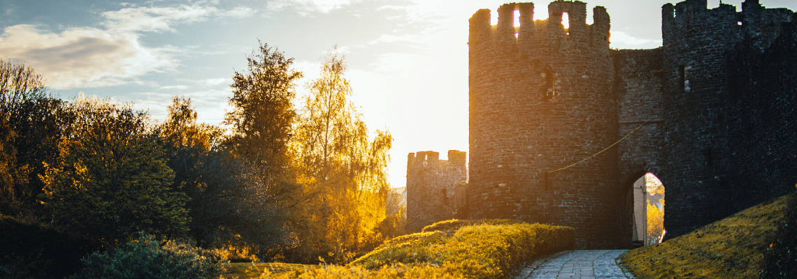 Castle at sunset