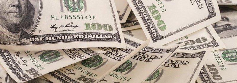 several hundred dollar bills