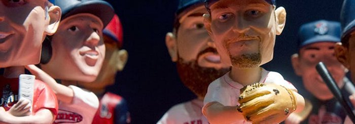 Bobbleheads and Other Free Swag Star in Baseball Uniform