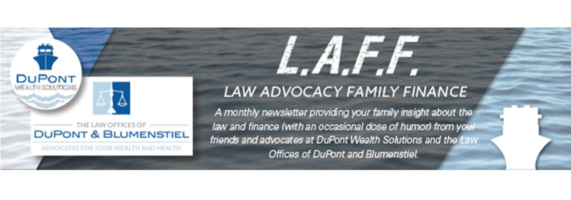 Law Offices of DuPont and Blumenstiel Business Card with