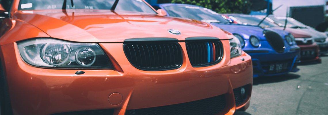 Orange Audi Car