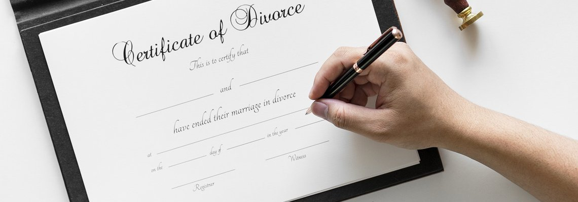 Person Signing on Certificate of Divorce