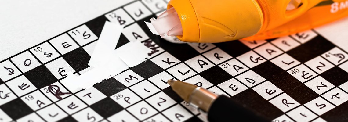 Crossword Game and Correction Pen