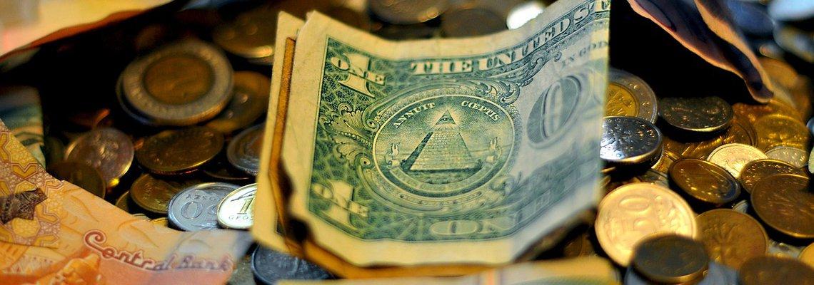 Money Bills and Coins