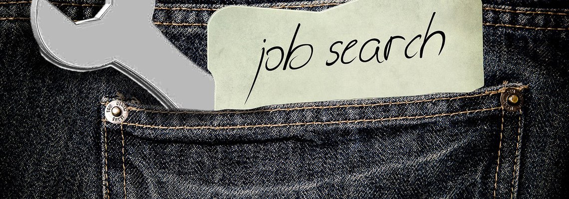 Job Search on a Piece of Paper Tucked Inside a Pocket