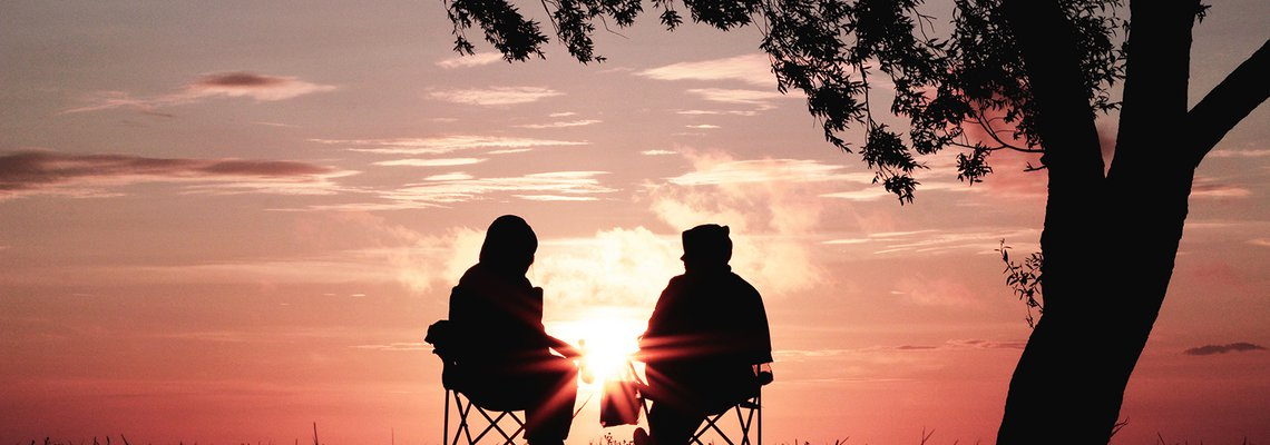 Couple Looking at the Sunset