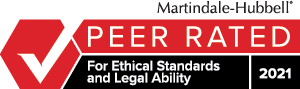 Martindale-Hubbell peer rated for ethical standards and legal ability badge