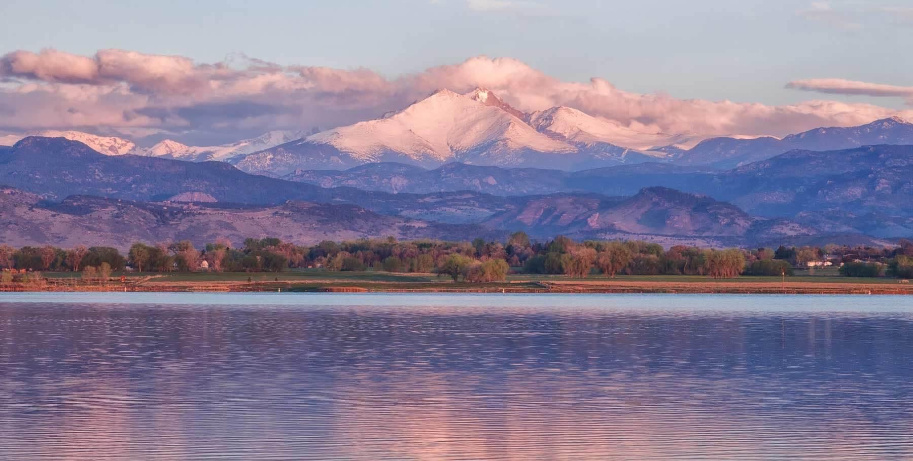 Mountains Behind a Lake
