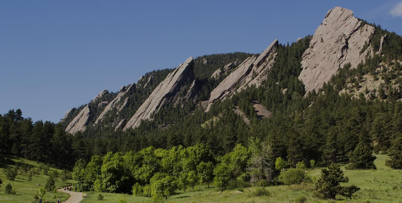 Rock Mountain with Green Surrounding